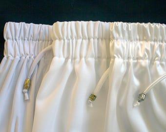 White Woven Crepe Pajama Shorts