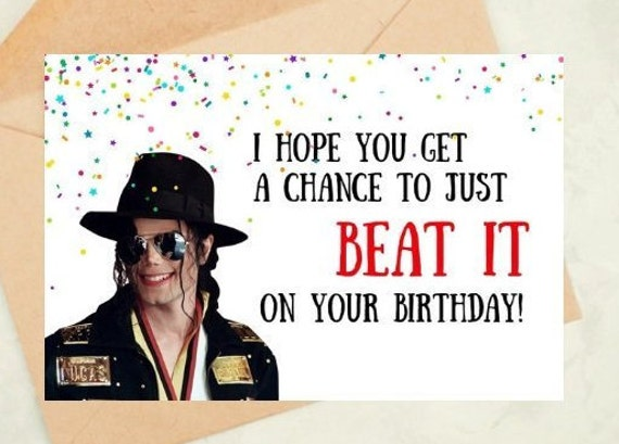Michael Jackson Birthday Card Funny For Mum