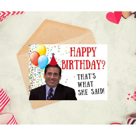 Michael Scott Card The Office Tv Show Birthday Card Office