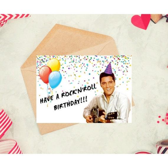 Elvis Presley Funny Birthday Card Printable Celebrity