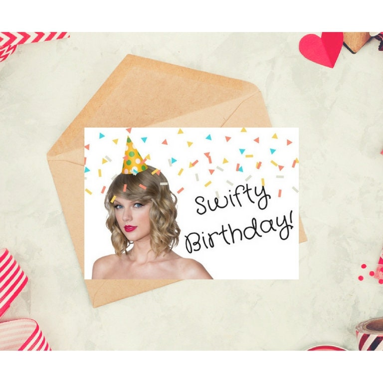 Taylor swift birthday card printable celebrity card etsy zoom m4hsunfo