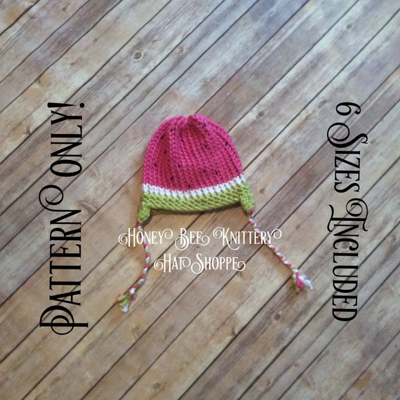 Watermelon Hat Pattern Only 6 Sizes Included Lime Green Etsy