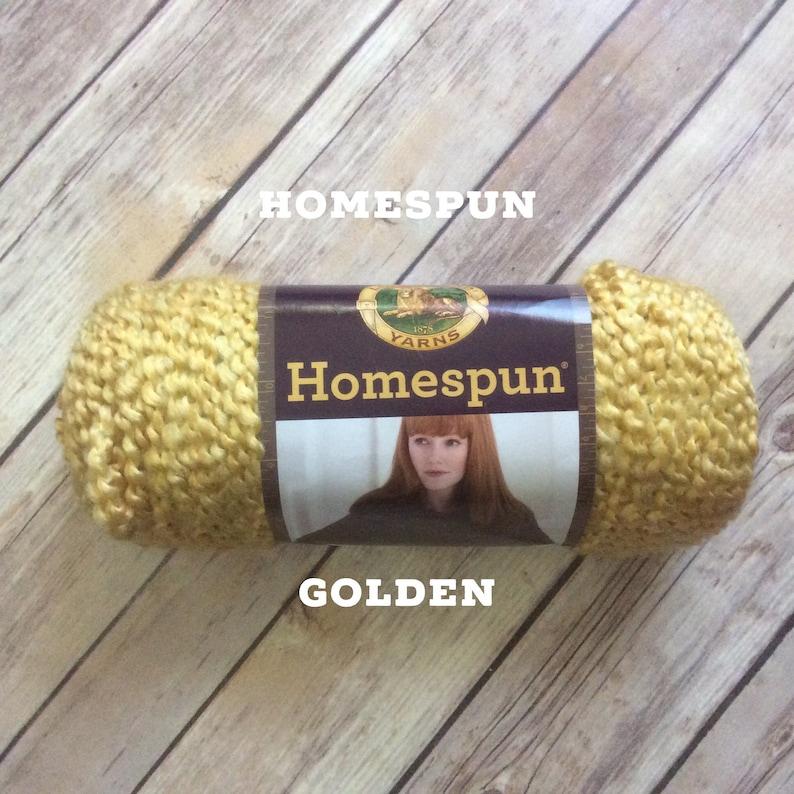 Homespun yarn READY TO SHIP; 6 oz skein Golden Lion Brand