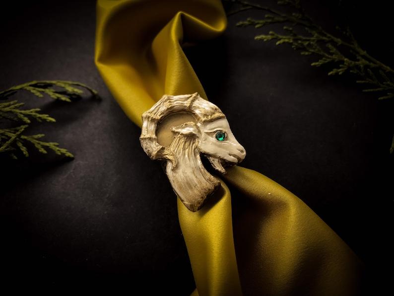 Ring \u201cMountain goat\u201d handcrafted of polyurethane