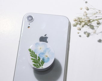 Custom handmade floral phone grip Phone Grip 100/% real pressed flowers custom phone grip Phone Stand