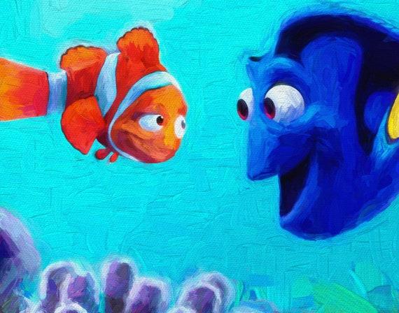 Finding Nemo Print Dory Art Nemo Poster Finding Dory Print | Etsy