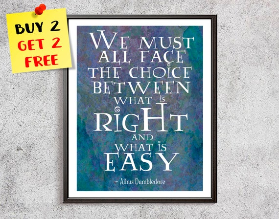 Albus Dumbledore Print Watercolor Quotes Print We Must All Etsy