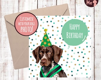 Personalised Dog Birthday Card Happy With Your Dogs Photograph