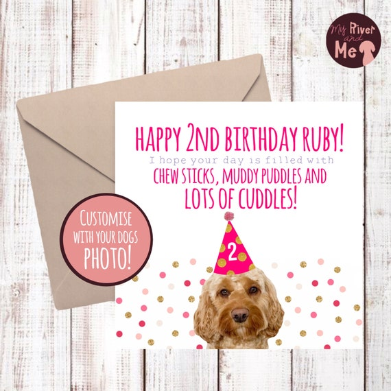 Personalised Birthday Card For The Dog With Your Dogs