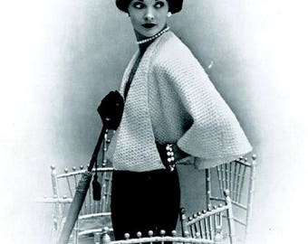 Ladies Short Jacket, The Tippet Shrug, Bolero, Knitting Pattern. Instant Download.