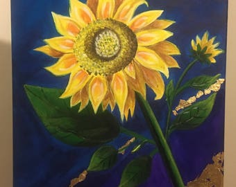 Handmade Acrylic Painting Sunflower