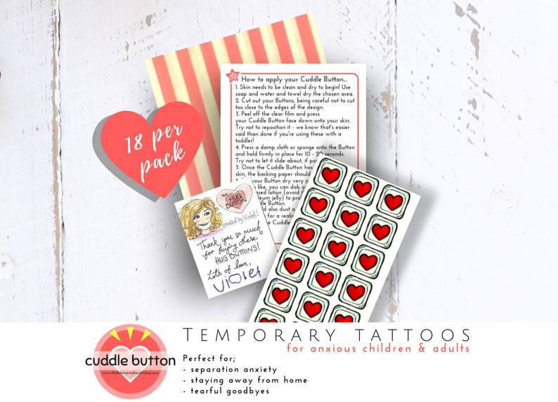 Anxiety Relief Temporary Tattoos for Kids  The Cuddle Button image 1