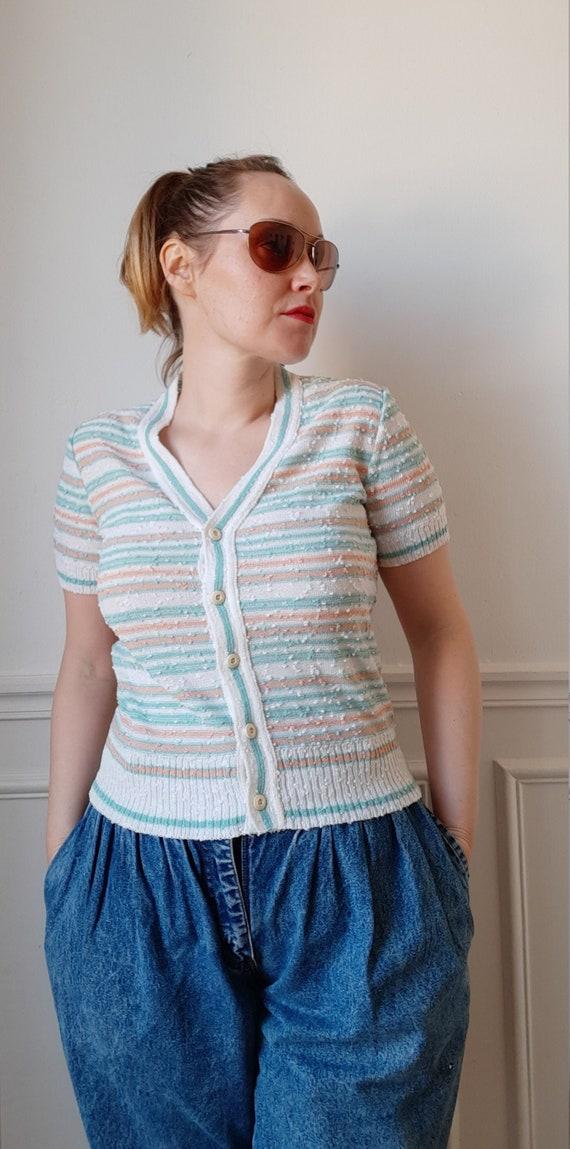 Vintage 60s Jean Dessès mesh vest