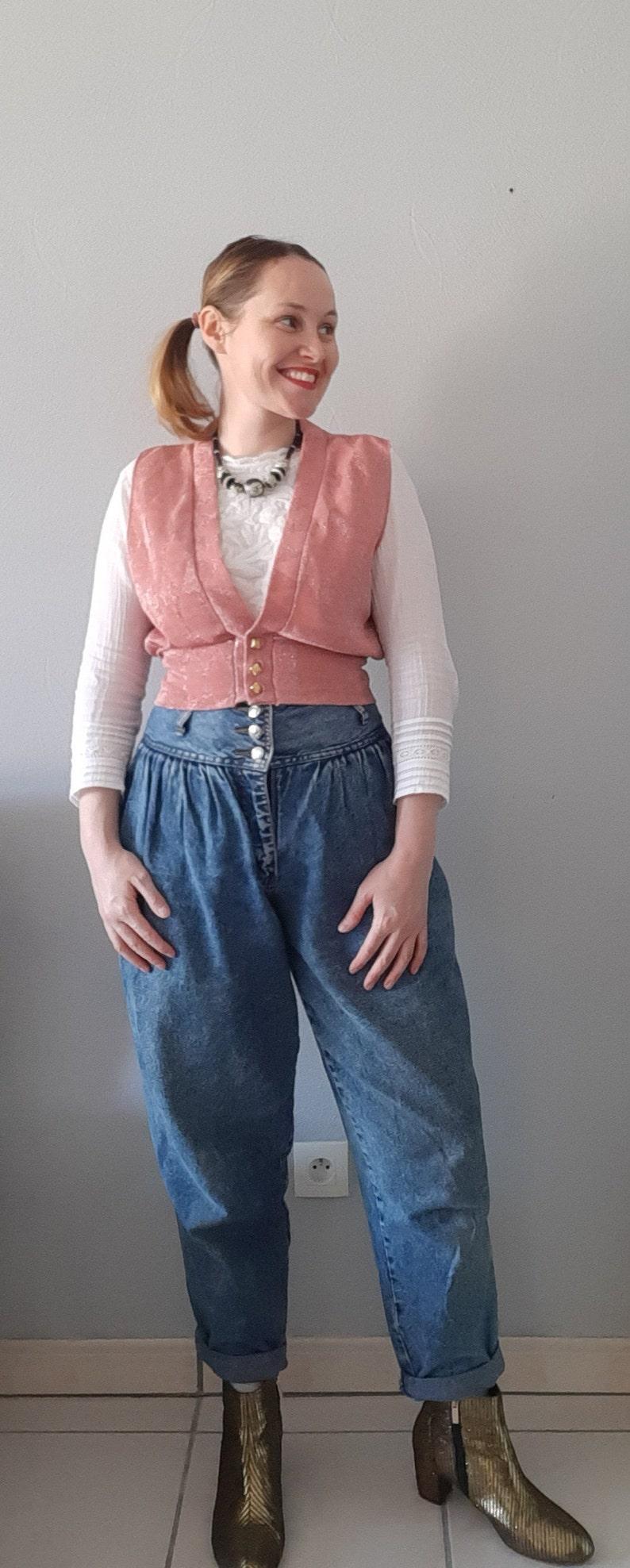 Vintage 80s short sequined waistcoat
