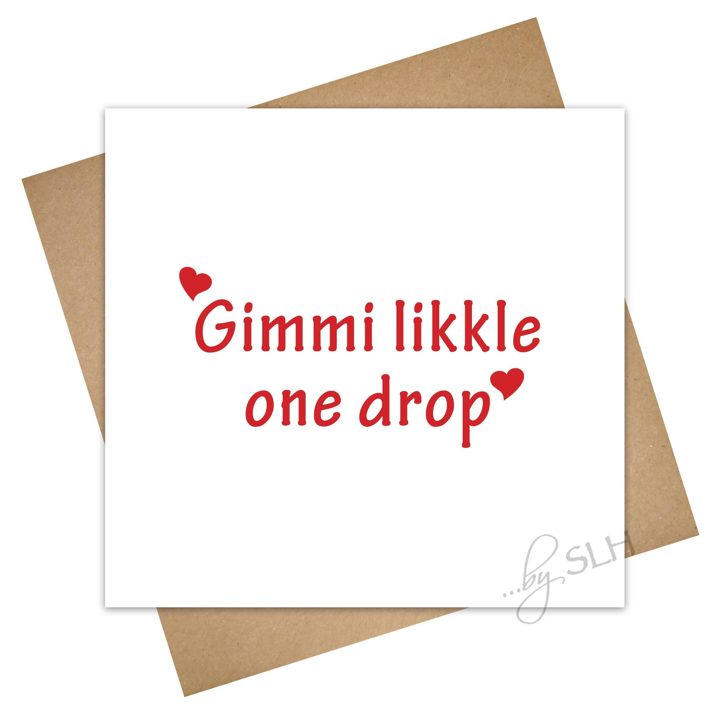 Loved Up Card Likkle One Drop Patois Patwa Unique Etsy