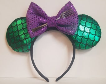 Ariel the Little Mermaid inspired Minnie Mouse Ears