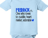Name Definition Onesie // Infant // Name // Newborn // Take Home Outfit  // Name Reveal