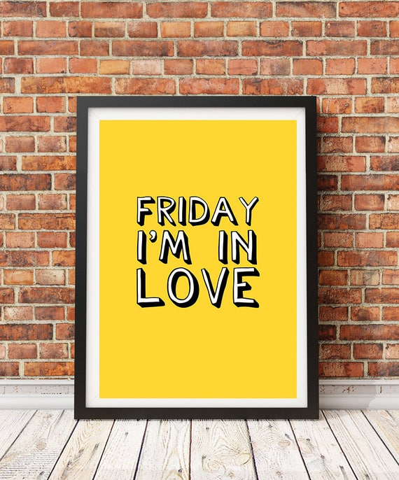 The Cure Friday Im In Love Lyrics Unframed Print