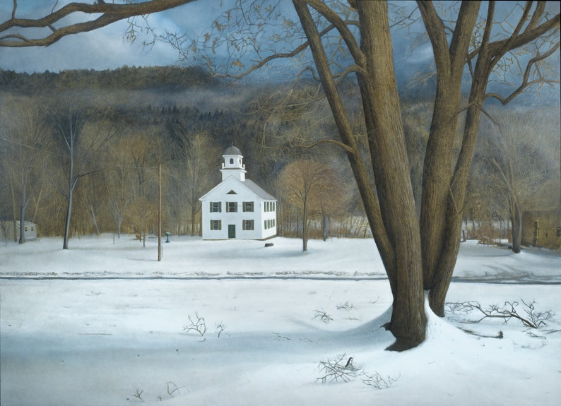 Vermont Church  Glicee archival print signed by the artist image 0