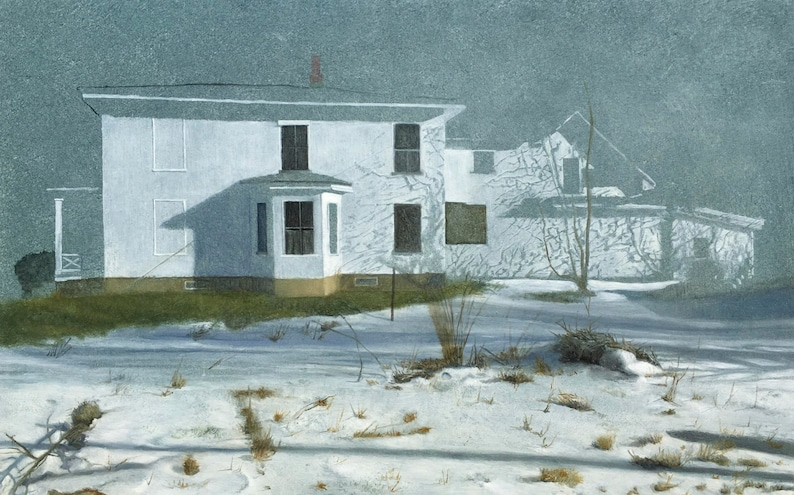 Vermont Snow Scene  Giclee archival print signed by the image 0