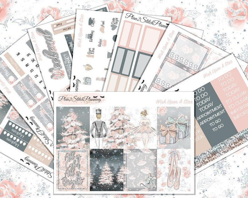 All is Merry and Bright Deluxe Sticker Kit for the Erin Condren Vertical Planner