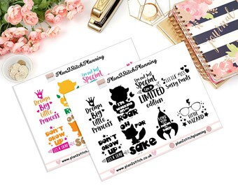 Cute Quotes Full Box Planner Stickers for Erin Condren