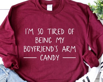 f4760bb34b FUNNY ANNIVERSARY GIFT Idea for Girlfriend Sweatshirt Gf T Shirt from  Boyfriend Gay Couple Tshirt Bf Tee Birthday Present for Her