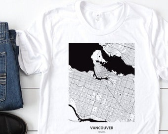 Keep Calm and Move to Canada Tour Canadian Flag Vancouver Map Gift T-Shirt
