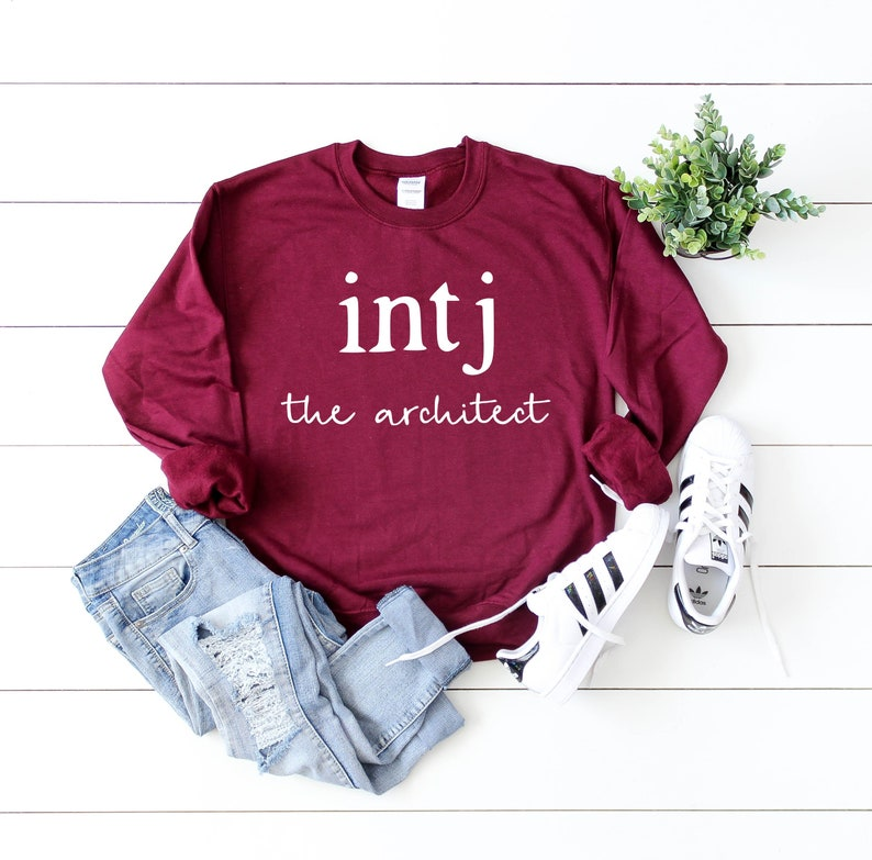 INTJ GIFT The Architect T Shirt Introvert Best Friend Birthday Present  Tshirt Introverted Sister Tee Gift for Her Him Gifts for Women Men