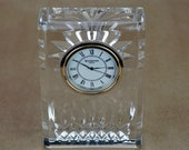 Waterford Favorite LISMORE 4 Inch Lead Crystal Quartz Clock Made In Ireland