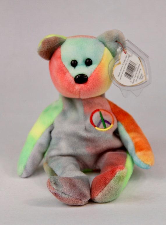 e53257d534c Ty Beanie Baby Peace Bear 1997