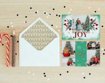 Christmas Postcard Template  5x7 -  V20 - Instant Download