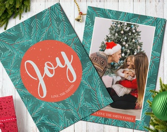 Christmas Postcard Template  5x7 -  V3 - Instant Download