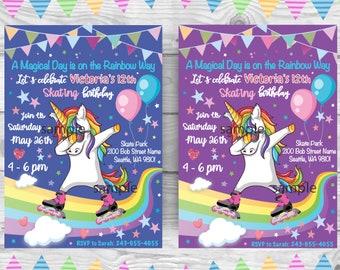 Roller Skate Invite Etsy