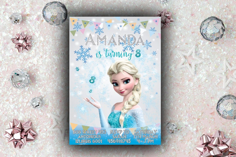 Personalized Frozen Invitation For Birthday Party Elsa Frozen Invitation Anna Frozen Invitation Disney Card