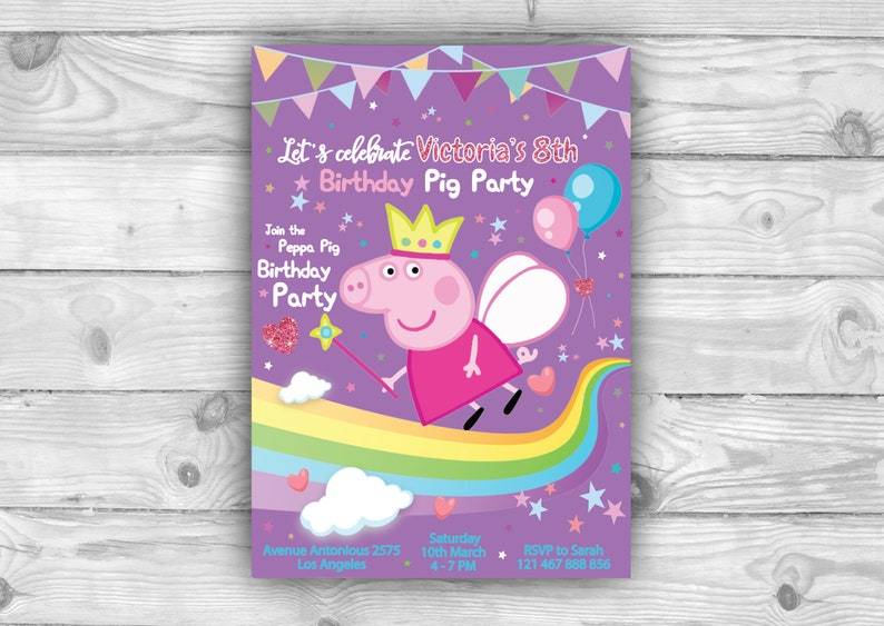 image regarding Peppa Pig Printable Invitations known as Peppa Pig Printable Invitation for Birthday Pig Occasion, Help you save the day with Peppa Pig Card, Electronic Invite toward Down load as a result of E-mail