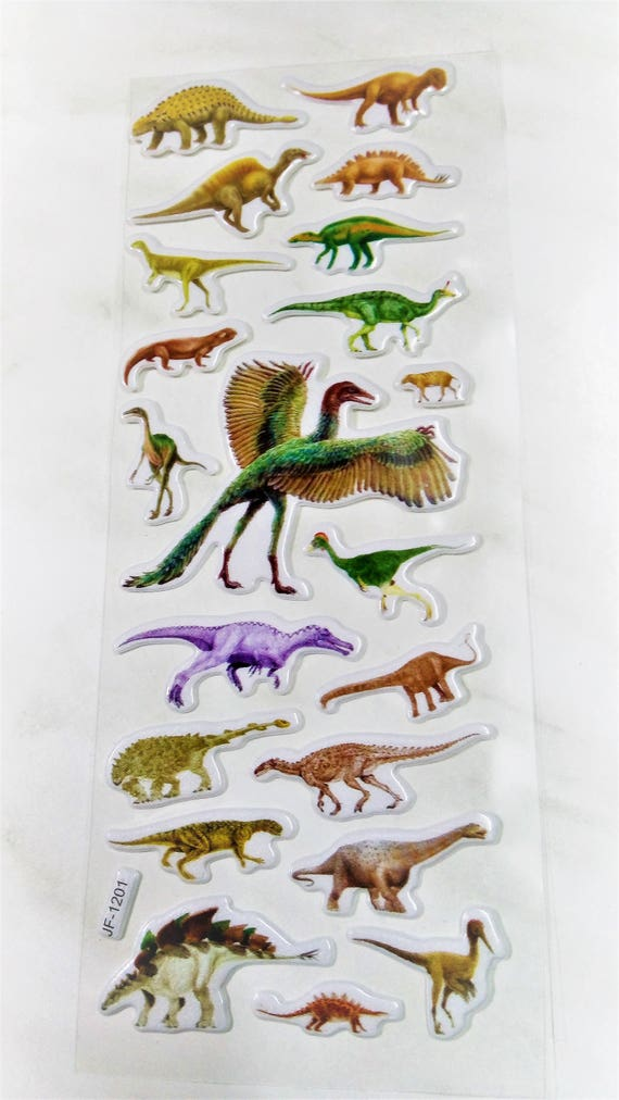 dinosaur stickers dinosaur decor dinosaur labels sticker etsy