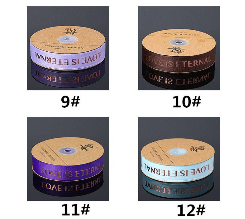 Holiday Wedding Birthday Party Decoration Gift Wrapping,Invitation Card Gift Packing,Celebration Present 50 Yards LOVE IS ETERNAL Ribbon