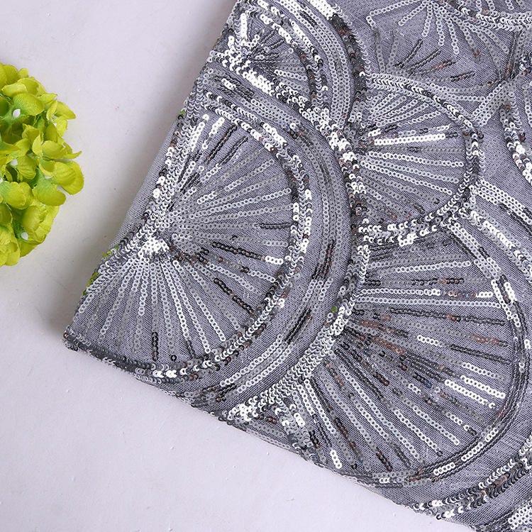 Paillettes argent dentelle tissu yard, sequin applique, tissu couture, de paillettes haute couture, tissu largeur 49 pouces 1e3fd5