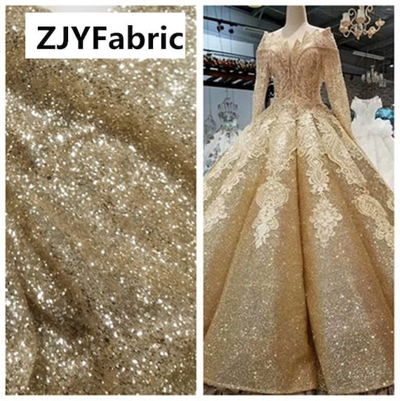 Dress Sequins Encryption Fabrics,DIY Materails,backdrop,Stage Costumes,51 Wide Gradient Gold BlackSilver Black Sequins Fabric By The Yard