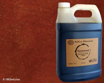 Stain for concrete - Rosewood (dark red to brown) - 1 Gallon - Free Shipping