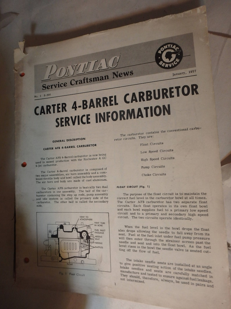 Carter 4 barrel carburetor manual