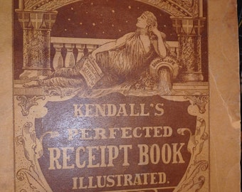 1898 edition- Kendall's perfected receipt book illustrated 208 pages