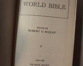 for sale is The Indispensable World Bible by Robert Ballou-1950
