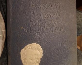 "1952 (crimson and blue"" Abraham Lincoln high school yearbook -council bluffs, Iowa"