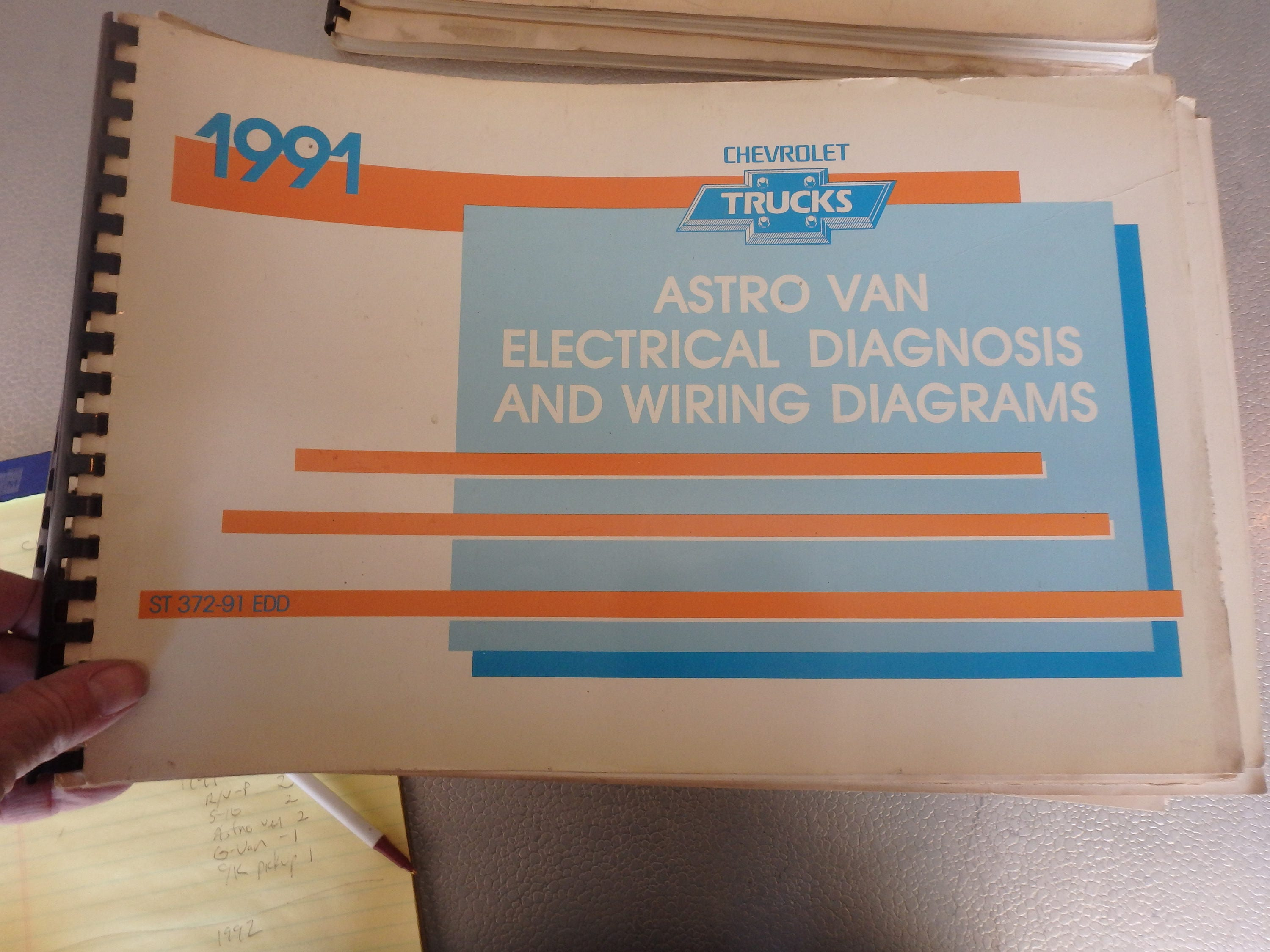 1991 Chevrolet Electrical Diagnosis And Diagrams Astro Van Etsy 2004 Chevy Diagram Wiring Schematic Zoom