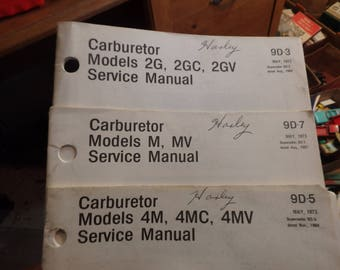 5 vintage Delco-remy service manuals 3 carburetor, a c charging & ignition systems 1960-1975
