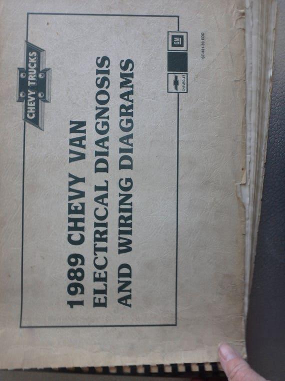 1989 chevy van wiring diagram 1989 chevrolet electrical diagnosis and diagrams chevy vans etsy  1989 chevrolet electrical diagnosis and