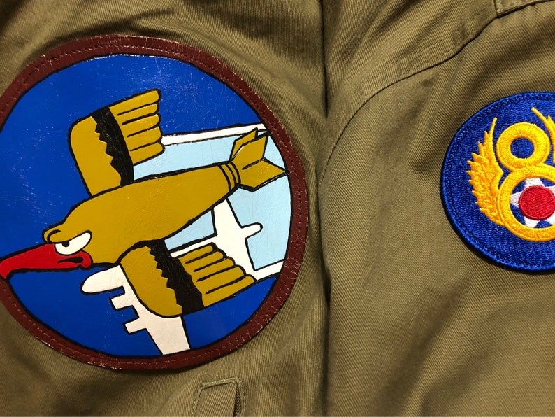 Custom made leather patches perfect for display boxes shadow boxes or re-enactment gear.