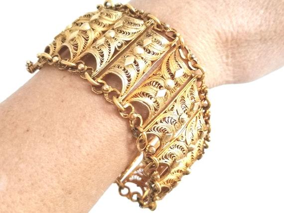 Antique Gilded Silver Art Deco (Jugendstil) Bracel